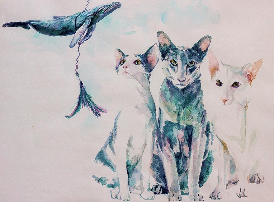 UTE BESCHT UTE BESCHT AQUARELLE CATS WHY SHOULD WE